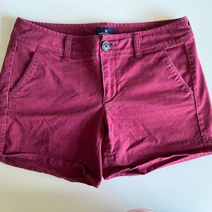 Burgundy American Eagle Shorts